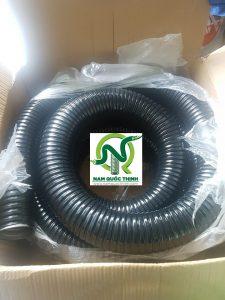 Ống ruột gà thép bọc nhựa đi cho hệ thống Chiller NOVOTEL Phú Quốc c